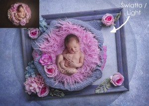 Newborn digital backdrop / tło cyfrowe Image pink